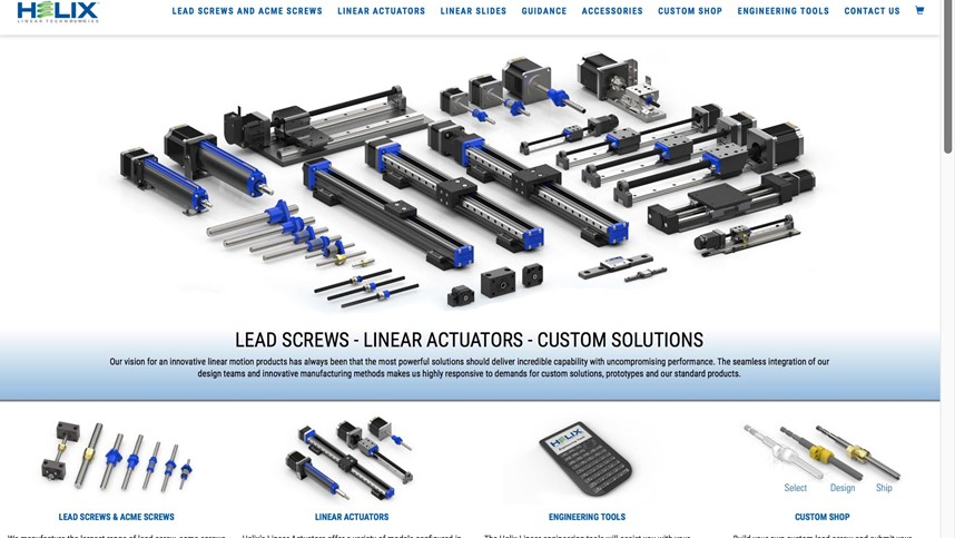 Announcing the Launch of the New Helix Linear Technologies Website - helixlinear.com